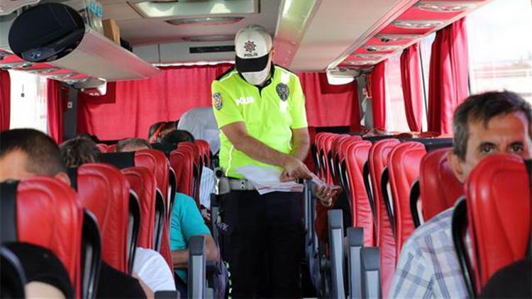 Keşan'da, yolcu otobüslerinde 'HES kodu' denetimi