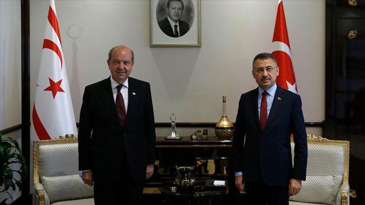 Cumhurbaşkanı Yardımcısı Fuat Oktay, KKTC Başbakanı Ersin Tatar ile görüşecek