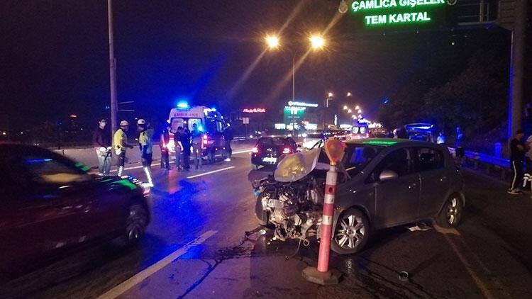 Göztepe'de 'makas' kazası: 2'si ağır 3 yaralı