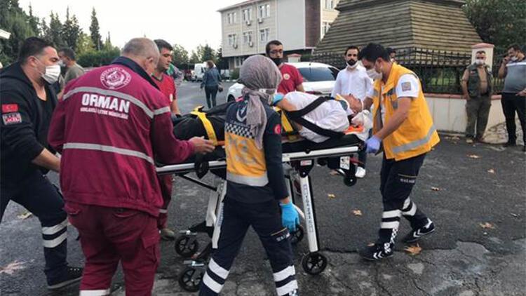 Tartıştığı sürücüyü darbetmeye çalışırken yere düşerek yaralandı