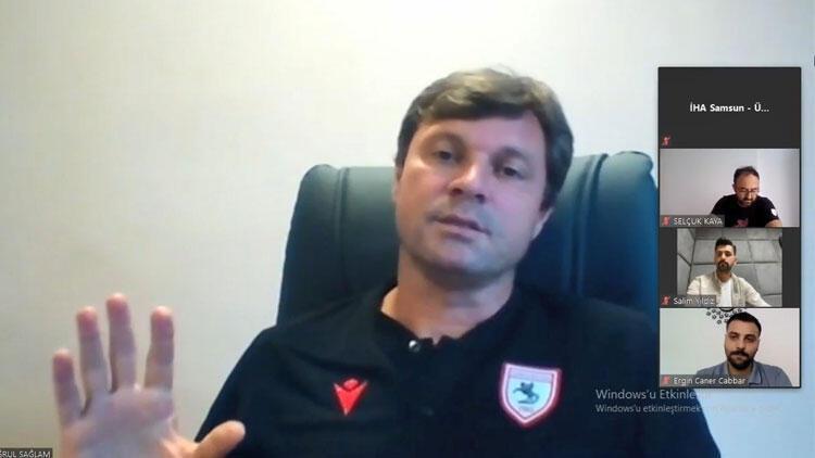 Samsunspor Teknik Direktörü Ertuğrul Sağlam'dan hakem eleştirisi