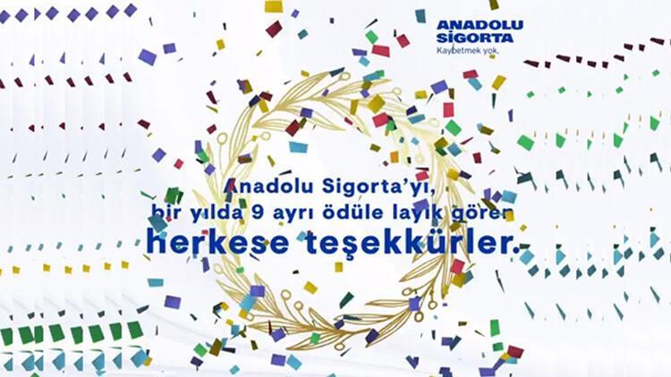 Anadolu Sigorta'ya 7 yarışmadan 9 ödül