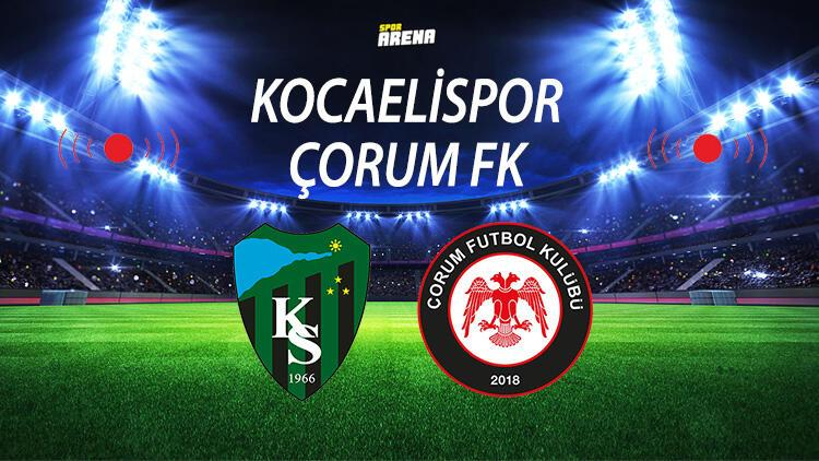 Kocaelispor Çorum FK maçı ne zaman saat kaçta hangi kanalda?
