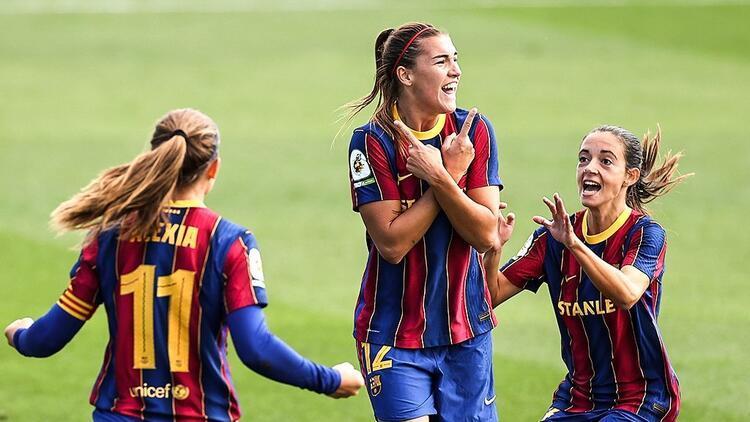 Kadınlar futbolunda bir ilk! El Clasico'nun galibi Barcelona...