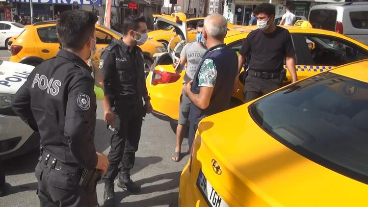 Esenyurt'ta taksiciler yine birbirine girdi!
