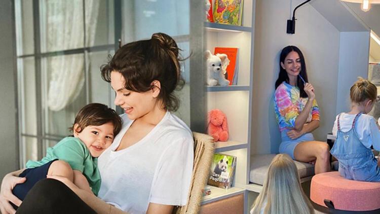 Ünlülerin çocukları ile birlikte ev halleri