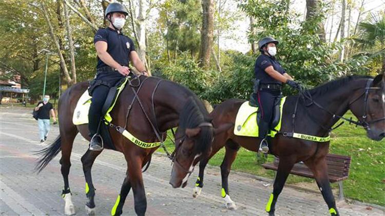 Bursa'da atlı polisler göreve başladı