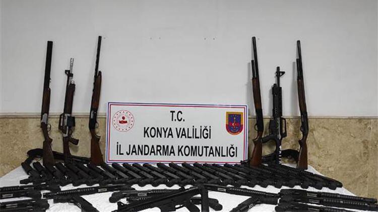 Konya'da kaçak üretilen 65 tüfek ele geçirildi