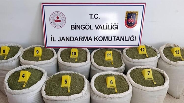 Bingöl'de 213 kilo toz esrar ele geçirildi