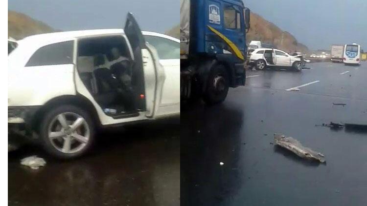 Kuzey Marmara Otoyolu'nda korkunç kaza...