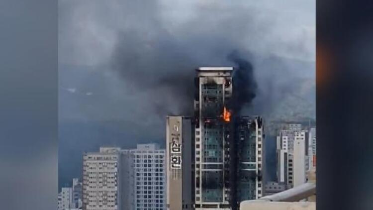 Güney Kore'de gökdelen yangınında yaralı sayısı 93'e yükseldi