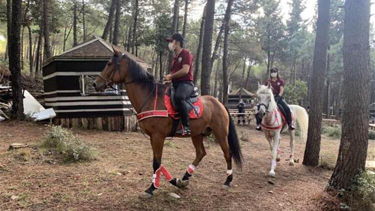 Atlı polislerden Aydos Ormanı'nda denetim