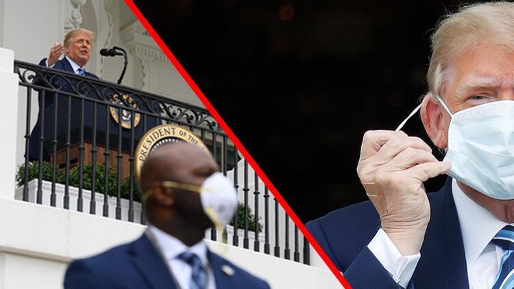 Trump'tan korona sonrası ilk! Böyle konuştu