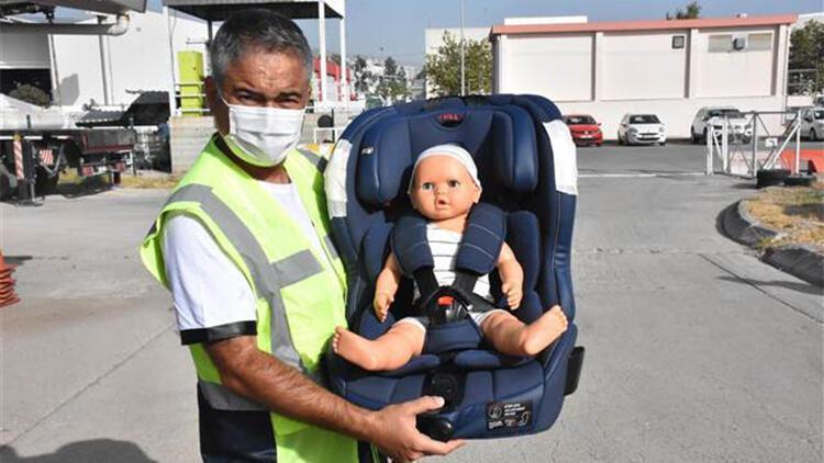 Çocuk oto koltuğu hayat kurtarıyor