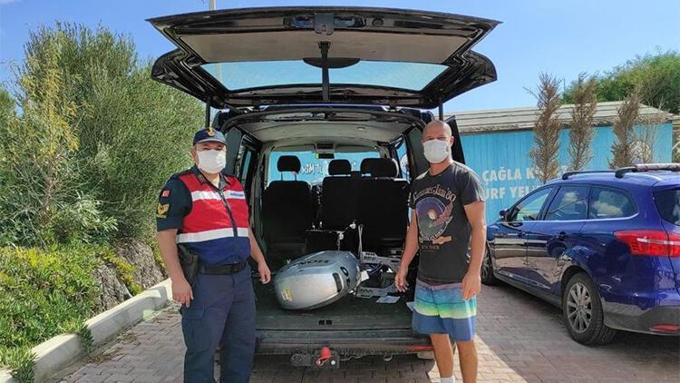 İzmir'de tekne motoru çalan 5 şüpheli yakalandı