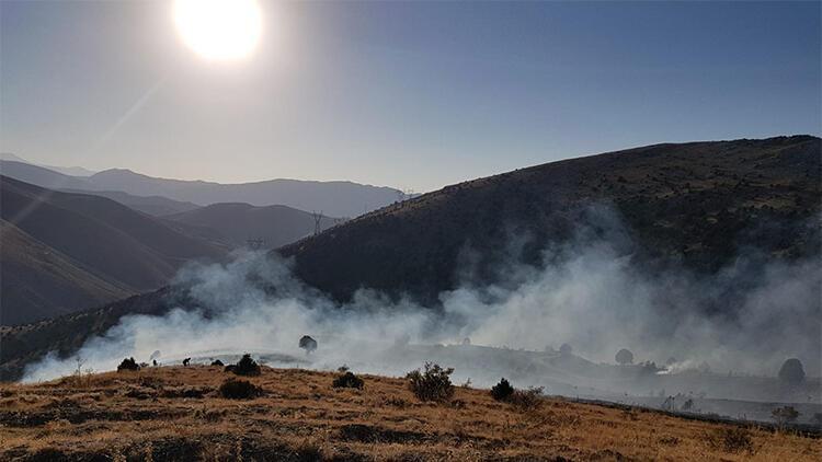 Sarız'da ormanlık alanda yangın çıktı