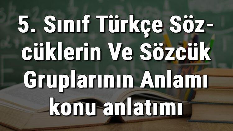 5. Sınıf Türkçe Sözcüklerin Ve Sözcük Gruplarının Anlamı konu anlatımı