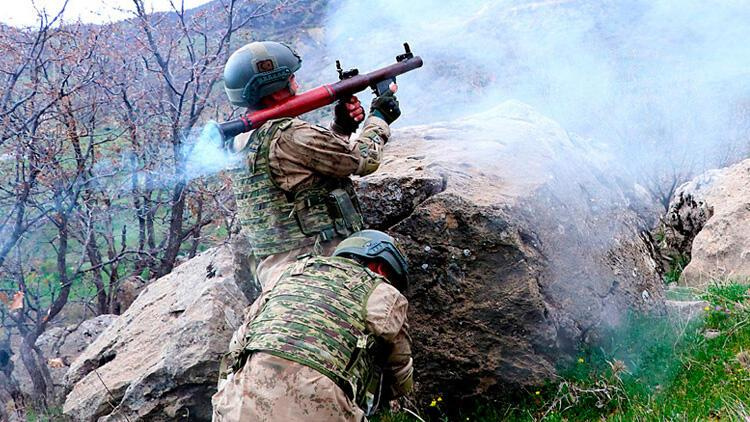 Irak'ın kuzeyinde PKK'lı 2 terörist etkisiz hale getirildi