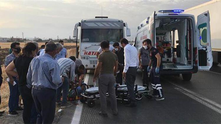 Şarampole devrilen motosikletin sürücüsü yaralandı