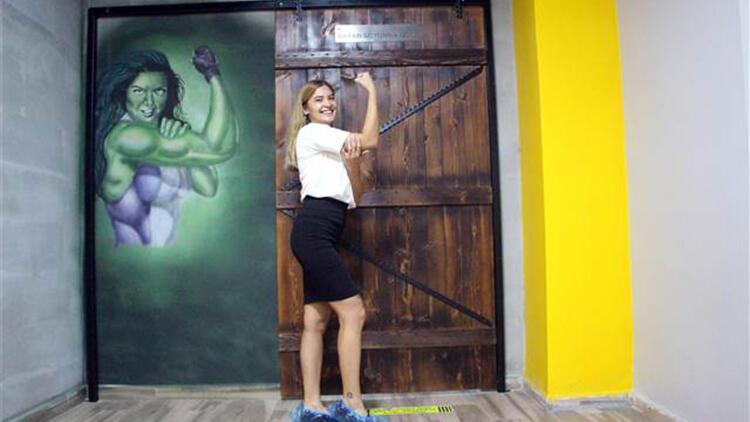 Bolu'da duvarlar, Melek Sinem'in çizimleriyle renkleniyor