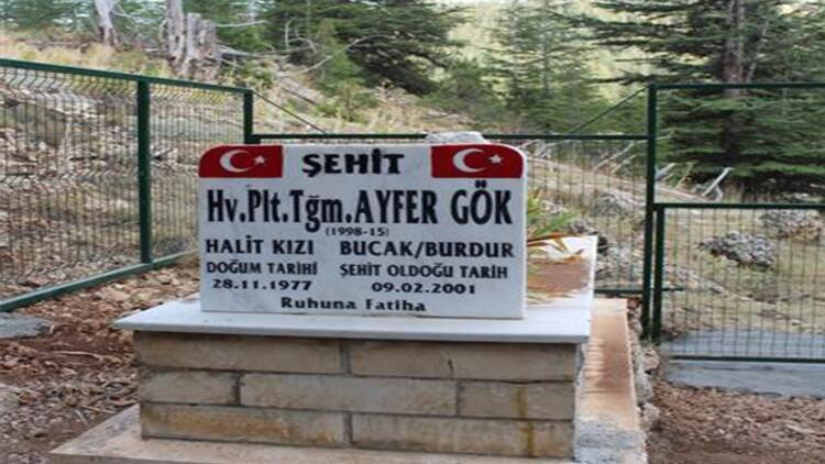 Şehit pilotun kaza yerindeki mezarlığı koruma altına alındı