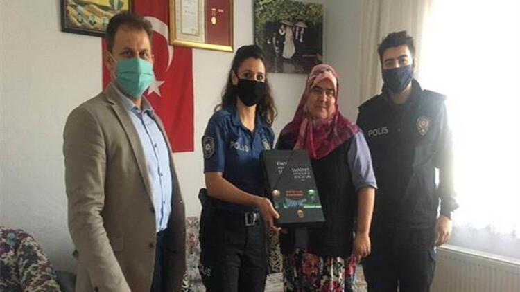 Biga'da şehit polis ailelerine ziyaret