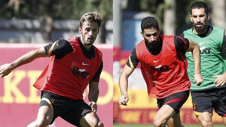 Galatasarayda Alanyaspor hazırlıkları Etebo, Emre Akbaba ve Saracchi takımla çalıştı...