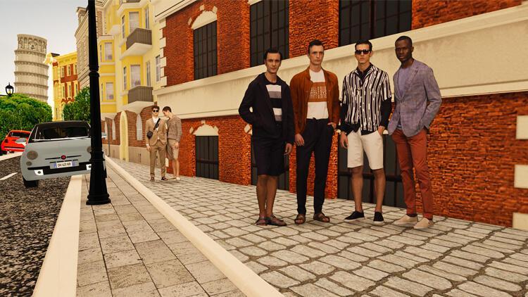 """Damat Tween """"sanal"""" modada bir ilk: İtalya sokaklarında Virtual Runway"""