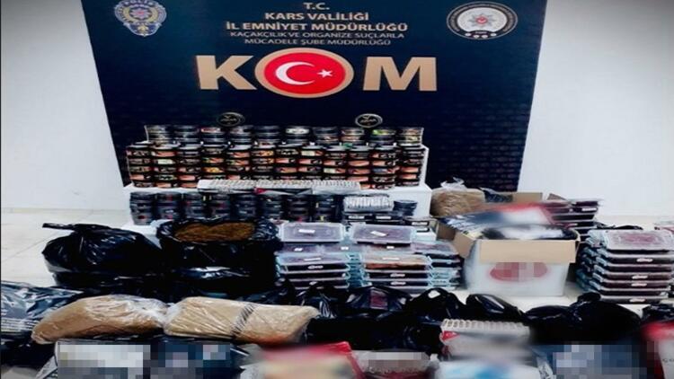 Kars'ta polisten tütün operasyonu