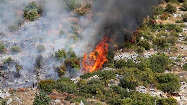 Alanya'da çalılık alanda çıkan yangın büyümeden söndürüldü