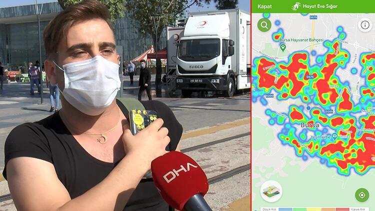 Son dakika haberler: Bursa'da maskesiz yakalandı maske takmayanlara sitem etti