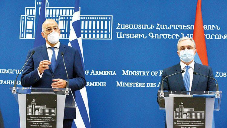 Yunan bakan Erivan'a gidip Türkiye'yi suçladı