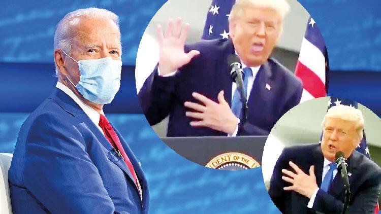 Trump'tan 'yaşlı Biden' taklidi