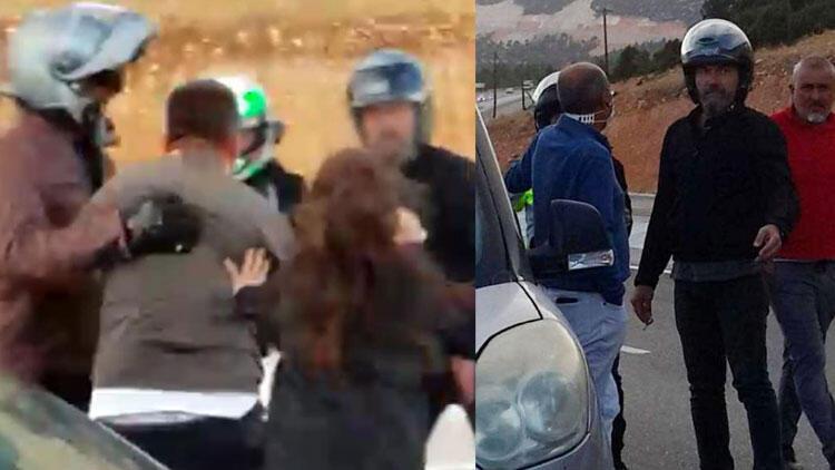 Son dakika... Motosikletli grup dehşet saçtı! Çocuklarının gözü önünde dövdüler...