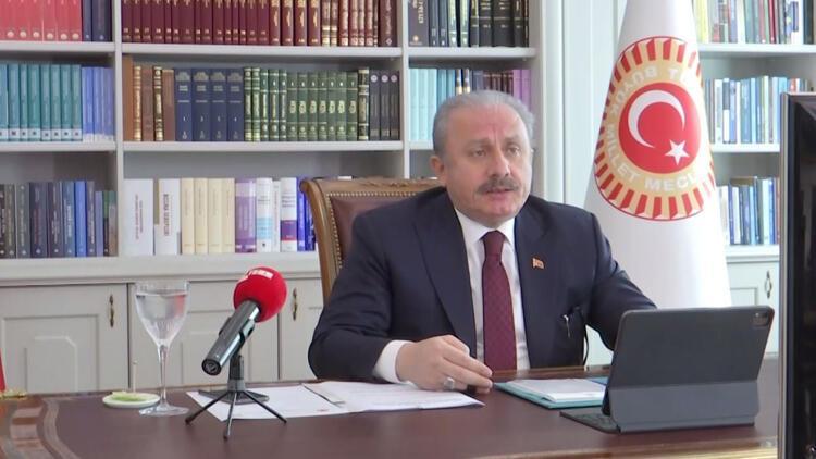 TBMM Başkanı Mustafa Şentop, 12. Uluslararası Dünya Dili Türkçe Sempozyumu'nun açılışında konuştu