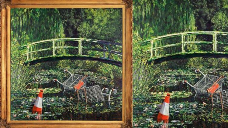 İngiliz sanatçı Banksy'nin eseri 9,8 milyon dolara alıcı buldu