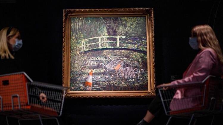 Ünlü sokak sanatçısının 'Monet tablosu' açık artırmada 10 milyon dolara satıldı
