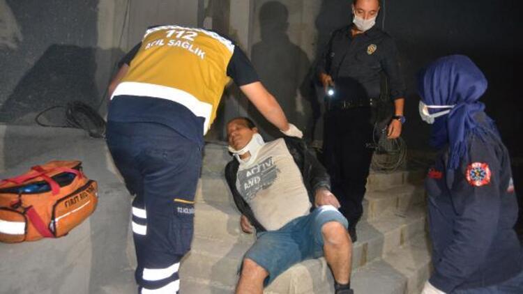 Polisten kaçan hırsızlık şüphelisi, 5 metre yüksekten düşerek yaralandı