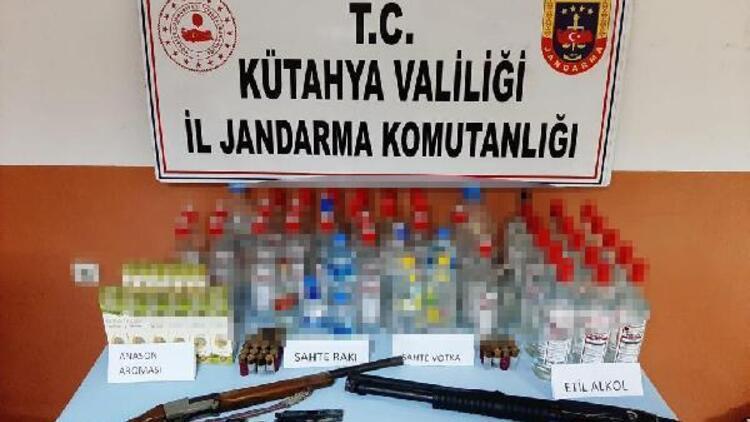 Kütahya'da 17 litre sahte içki ele geçirildi