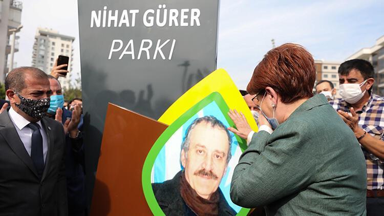 Akşener, İzmir'de ağabeyinin ismini taşıyan parkı açtı, duygusal anlar yaşadı