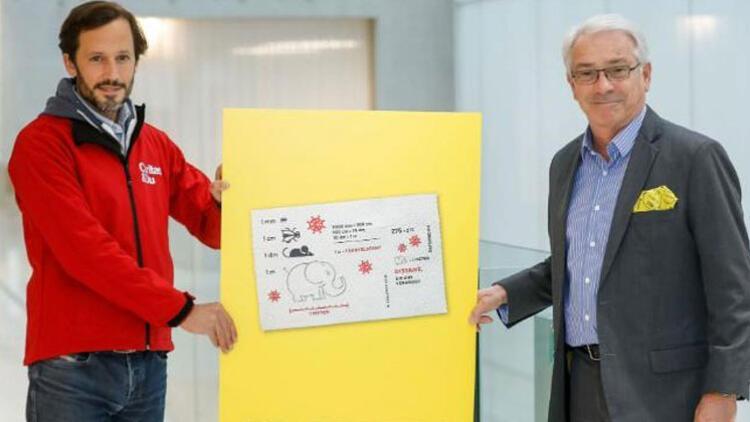 Avusturya'dan koronaya dikkat çekmek tuvalet kağıdından posta pulu