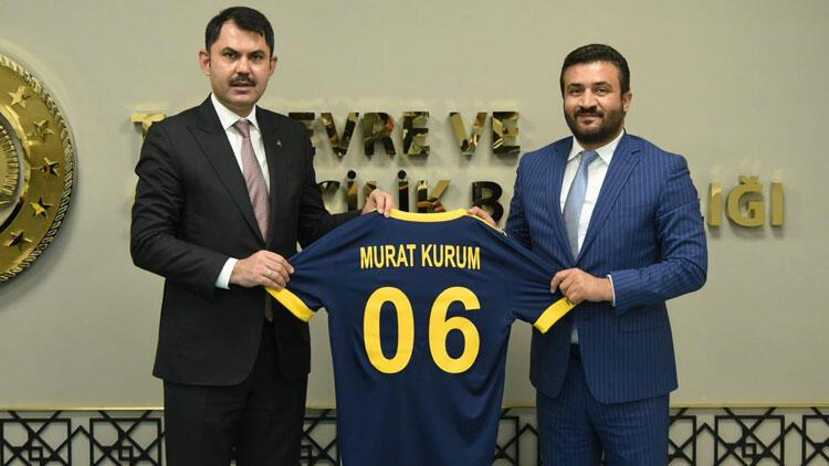 Ankaragücü Başkanı Fatih Mertten, Bakan Kuruma ziyaret