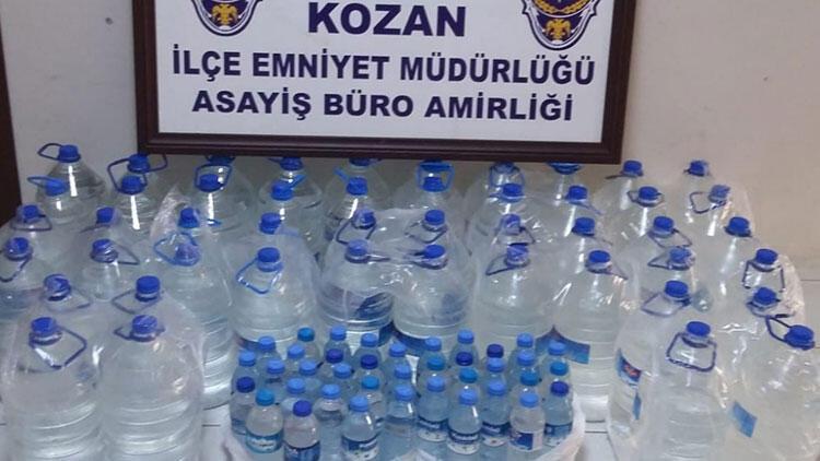 Adana'da operasyon! Çok sayıda kaçak içki ele geçirildi, 1 gözaltı