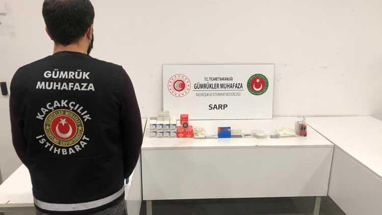 Sarp Sınır Kapısında dişçilik sektöründe kullanılan 144 bin liralık kaçak malzeme ele geçti