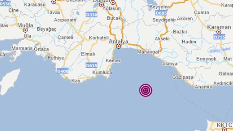 Son dakika haberler: Akdeniz'de 3.5 büyüklüğünde deprem