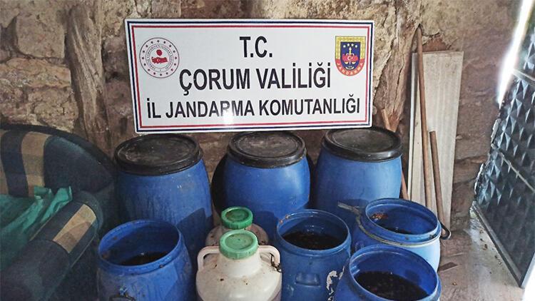 Çorum'da 2 bin 653 litre kaçak içki ele geçirildi