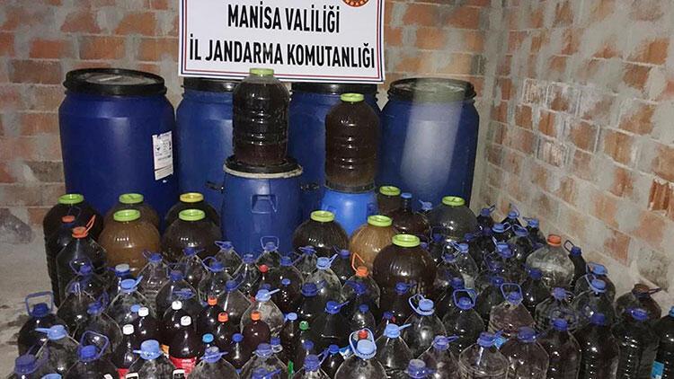 Manisada çok miktarda sahte içki ele geçirildi
