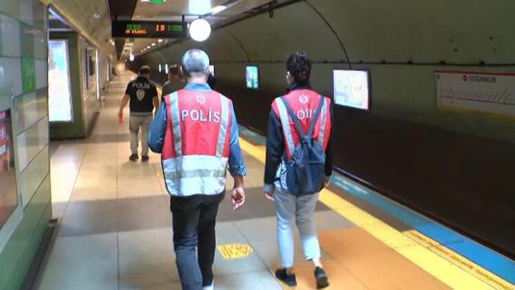 Kartalda metroda koronavirüs denetimi