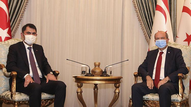KKTC Cumhurbaşkanı Tatar, Bakan Kurum'u kabul etti