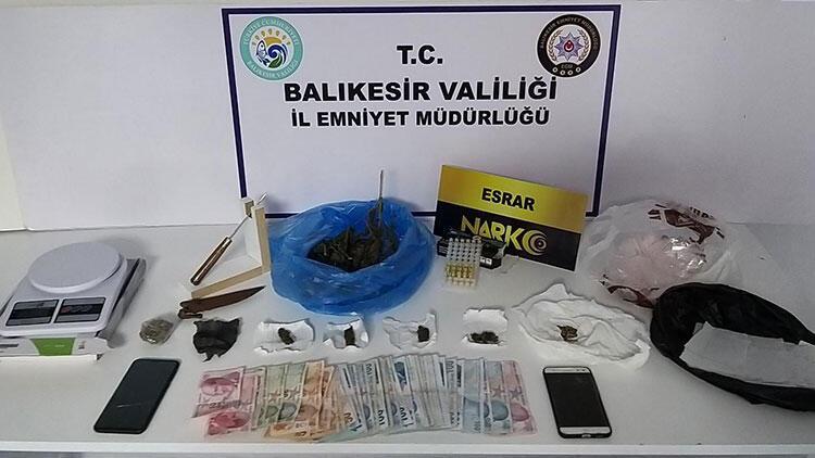 Balıkesirde 7 uyuşturucu operasyonu Çok sayıda gözaltı var